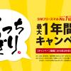 FREETELが最大1年間「1GBデータ通信」が無料のキャンペーンを実施!