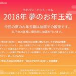 ヨドバシの福袋・夢のお年玉箱2018が抽選に変更